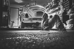 Mechanic (Free for Commercial Use) Tags: pictures travel original wallpaper blackandwhite bw man black texture beautiful car vw night volkswagen photography photo blackwhite interestingness interesting nightshot floor image photos background garage stock beetle working picture free images explore cc credit header rights creativecommons excellent gratis daytime jpg wallpapers jpeg mechanic reserved inspiring headers exciting vwbeetle freestuff volkswagenbeetle stockphotography freebies highquality royaltyfree commercialuse freephotos dailyimage freeimages headerimages jpegphoto freephotography freepictures attributionrequired freeforcommercialuse ffcu freephotographer freefcu attributetheoriginalcreator freeimagesdaily freeforcommercialusecom