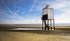 The Low Lighthouse, Burnham on Sea, UK. Built in 1832 (Photography by Julia Martin) Tags: coast somerset lowtide burnhamonsea 1000views coastalscene woodenlighthouse lowlighthouse photographybyjuliamartin leendgradfilter06