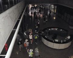 049 The Dark Hallways Of The World Trade Center (saschmitz_earthlink_net) Tags: california losangeles walks downtown hiking worldtradecenter group hike bunkerhill bigparade 2014 pedway pedestrianwalkway calvinshamiltonpedway
