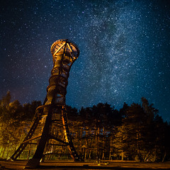 Labanoras tower (trimailov) Tags: labanoras labanorastower mindunai mindnai landscape d7000 nikon astro astrophotography star starscape night nightscape trees forest lithuania