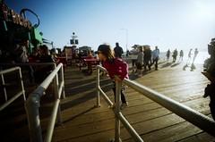 (golfpunkgirl) Tags: santamonica stamonica pier beach cali california la route66 travel sunset ava may2016 holiday boardwalk sun film lcwide 17mm wide lomo lomography lomographyfilm400 negfilm usa