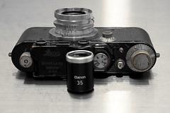 Leica III, Leica Summaron 35mm F/3.5, Canon 35mm Finder (duncanwong) Tags: leica iii ltm m mount bayonet summaron 35mm 35 f35 canon vf finder viewfinder view