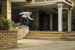Danny Jones - Back Tail, York Crust. (JonnyVSM) Tags: skateboarding skate skateboard york crust crusty ledge brick tailslide backside yorkshire vale danny jones street action sports sport wow city