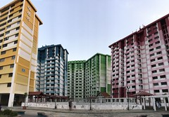 iPhone 7 Panorama (Jerry (jerrywongjh)) Tags: singapore iphone iphone7 cameratest sooc straightoutofcamera noedit noediting nofilter rochor rochorcentre hdb building flat publichousing 1977 colourful yellow blue green red