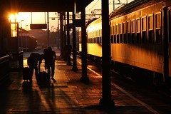 Forlì Stazione (maciej.ka) Tags: travel italy reflection sunshine station train bag spring warm italia may passanger stazione treno forlì forli susnet passeggeri forlìcesena emiliaromania