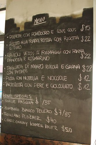 Specials blackboard