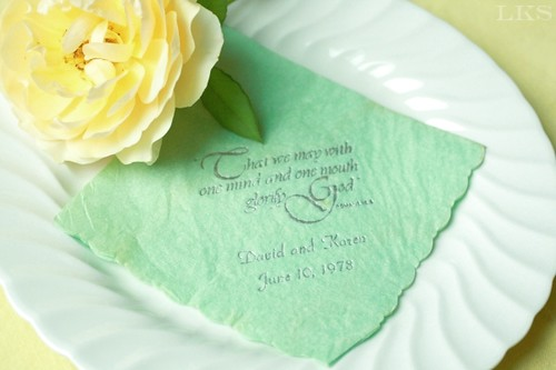 wedding napkin