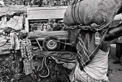 Work (anindya c) Tags: street bw india work panasonic tight kolkata westbengal anindya lx3
