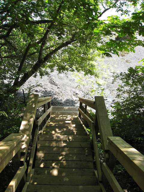 Stairs to Maple Bay Beach