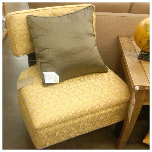 world market yellow chair