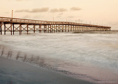 ~167/365~ Beachy (DocUNC) Tags: ocean longexposure sunset sea summer reflection love beach water clouds canon landscape pier waves pad peaceful northcarolina 5d 365 beautifull oceanisle project365 167365 beacheslandscapes flickrelite docunc