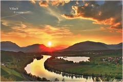 Villach evening 4_HDR (peter pirker) Tags: sunset orange sun green water canon landscape austria sterreich wasser sonnenuntergang wolken krnten carinthia fluss landschaft sonne villach rotred skyhimmel flickraward peterfoto flickraward5 eos550d flickrawardgallery