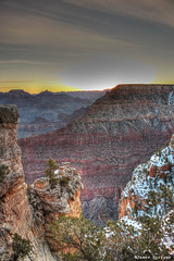 Snowy Grand Canyon Before Sunrise (J.Burrows) Tags: snow rock sunrise canon canonrebel firstlight hdrgrandcanyonarizona