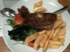Really Good Steak with Blue Cheese Butter, Food for Thought, Queen Street