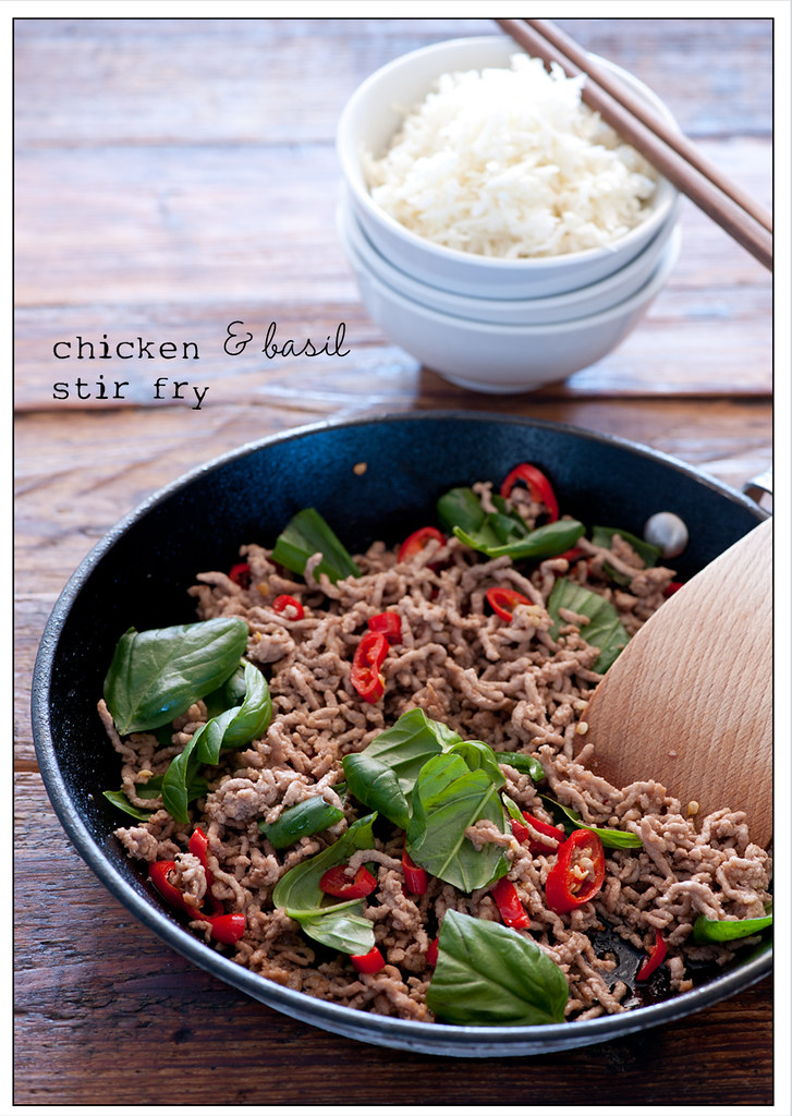 stir fry of chicken & basil recipe7