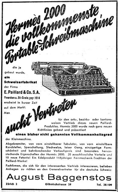 Hermes 2000 typewriter