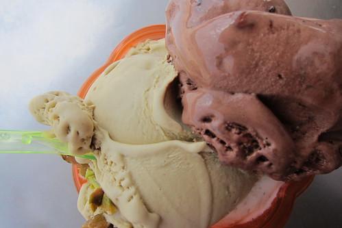 Pazzo Gelato: Pistachio + Chocolate