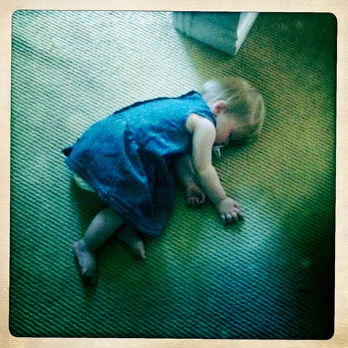 Florence asleep on the floor