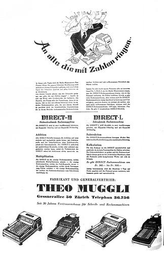 Theo Muggli Rechenmaschinen