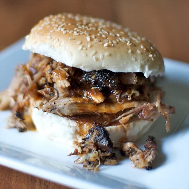 Pulled pork with coffee bbq sauce