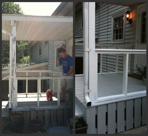 side of porch