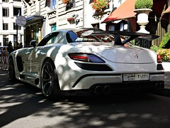 Mercedes Benz SLS FAB Design Gullstream (Niklas Emmerich Photography) Tags: summer fab white black paris car mercedes benz design 8 63 v hyper carbon supercar sls amg arabs 2011 althani quatar gullstream worldcars