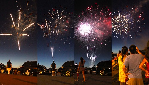 4th of July Fireworks at Marine World Collage