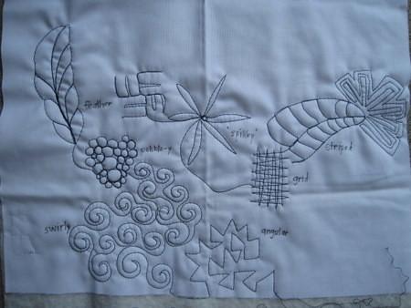 sewn line doodles