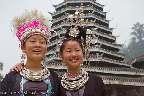 Dong Girls & Drum Tower, Zhaoxing