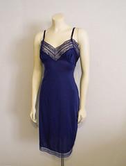Blue Slip (Lulu'sDressingRoom) Tags: blue vintage dress slip etsy gown