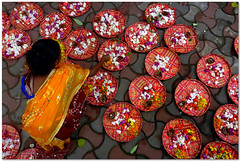 the flower girl (Soumya Bandyopadhyay) Tags: flower girl decoration kolkata westbengal panasoniczs3