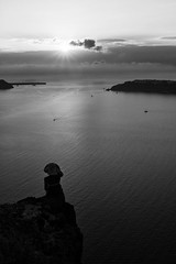 Santorini Sunset (gman_garry) Tags: travel bw santorini 7d 28mmf18 2011