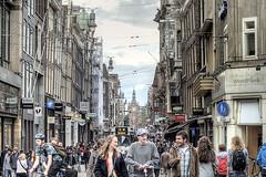 Amsterdam Leidsestraat (WorldPixels) Tags: old city netherlands amsterdam traffic 5 tram oud oude stad gvb worldwidepanorama leidsestraat lijn drukte