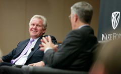 20111004BroyhillLecture034 (wakeforestbiz) Tags: people events business staff ceo speaker schools ge lecture academics broyhill jeffimmelt academicdepartments occasionalevents reinemund wakeforestschoolsofbusiness stevenreinemund