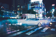 (skidu) Tags: japan canon reflections lights tokyo long exposure angle shibuya wide 1116