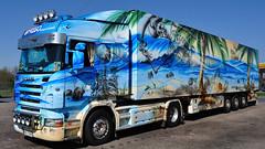 PL - Frigo-Transport >Geister der Südsee IV< Scania R HL (BonsaiTruck) Tags: camion trucks airbrush highline scania lorries lkw geister südsee mmtransport worldtruck frigotransport
