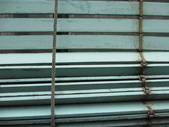 Turquoise wooden blinds - Greenhouse windows (Monceau) Tags: wooden turquoise greenhouse blinds serresdauteuil brewchain