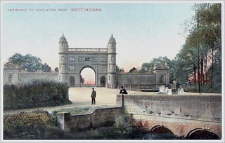 Entrance to Wollaton Park circa 1904 .