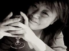 Kymdot (Kym.) Tags: bw selfportrait me photobooth wine thenetherlands kym wineco 1kymaday photoboothfun awomanleftlonely garnachacariñena