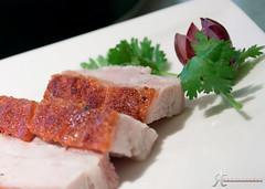 Roast Pork Belly (noobographer) Tags: food court lunch restaurant hotel tea 5 chinese meat roast hong kong pork belly layer dim ming sum kok mong langham