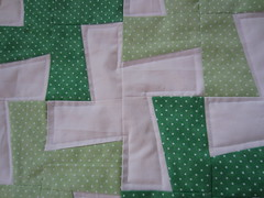 IMG_1366 (just me, molly) Tags: baby green wheel pin quilt border polka dot pinwheel whirligig mitered