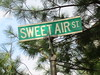 SWEET AIR (Zombie37) Tags: street old city light summer urban smile sign st metal vintage words spring nice pin shadows post sweet air happiness smell needles simple tre hampden sweetair baltimroe 21211