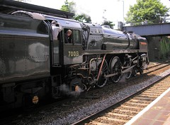 """""""Right Away Driver!"""" (Sir Hectimere) Tags: steamengines steamlocomotives railwayengines railwaylocomotives trainsandrailways specialtrains teignmouthstation class7mt britanniaclass britishrailwaysstandardlocomotives steamexcursions teignmouthdevon enthusiastspecials"""