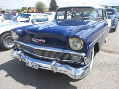 American Live, Luterbach 04.05.2014 (v8dub) Tags: auto old classic chevrolet belair car schweiz switzerland automobile suisse live air meeting automotive voiture chevy american oldtimer 1956 oldcar bel collector wagen luterbach pkw klassik worldcars