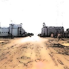 Google Street View - Pan-American Trek - Main Street, Conrad, Montana (kevin dooley) Tags: street usa photoshop trek google mainstreet montana view conrad processed streetview panamerican googlestreetview