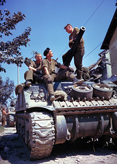 """Canadian crew of a Sherman-tank • <a style=""""font-size:0.8em;"""" href=""""http://www.flickr.com/photos/81723459@N04/14287013622/"""" target=""""_blank"""">View on Flickr</a>"""
