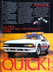 Toyota Celica Supra MA67 (celicacity) Tags: beach car long 1987 performance grand prix advert toyota what oh pace feeling quick celica supra pacesetting ma67