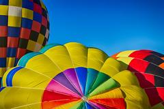 Bright Balloons (matthewkaz) Tags: hotairballoon hotairballoons balloon balloons color colors sky balloonfest michiganchallenge howell michigan 2016