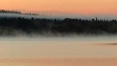 Foggy sunrise at Lake Jaurakkajärvi, 3:08 a.m.  (Pudasjärvi, 20160708) (RainoL) Tags: 2016 201607 20160708 fin finland fog fz200 geo:lat=6515951337 geo:lon=2767696382 geotagged jaurakkajärvi july lake landscape mist morning nature pohjoispohjanmaa pudasjärvi summer sunrise