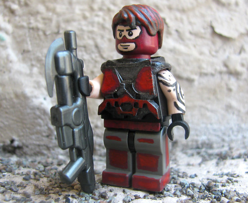 Custom minifig Red Trooper